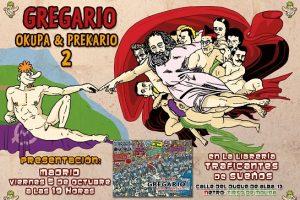 """Presentación en Madrid del cómic de Manolito Rastamán """"Gregario, Okupa & Prekario 2"""""""