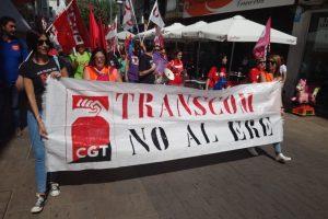 CGT lucha a brazo partido contra 200 despidos en TRANSCOM