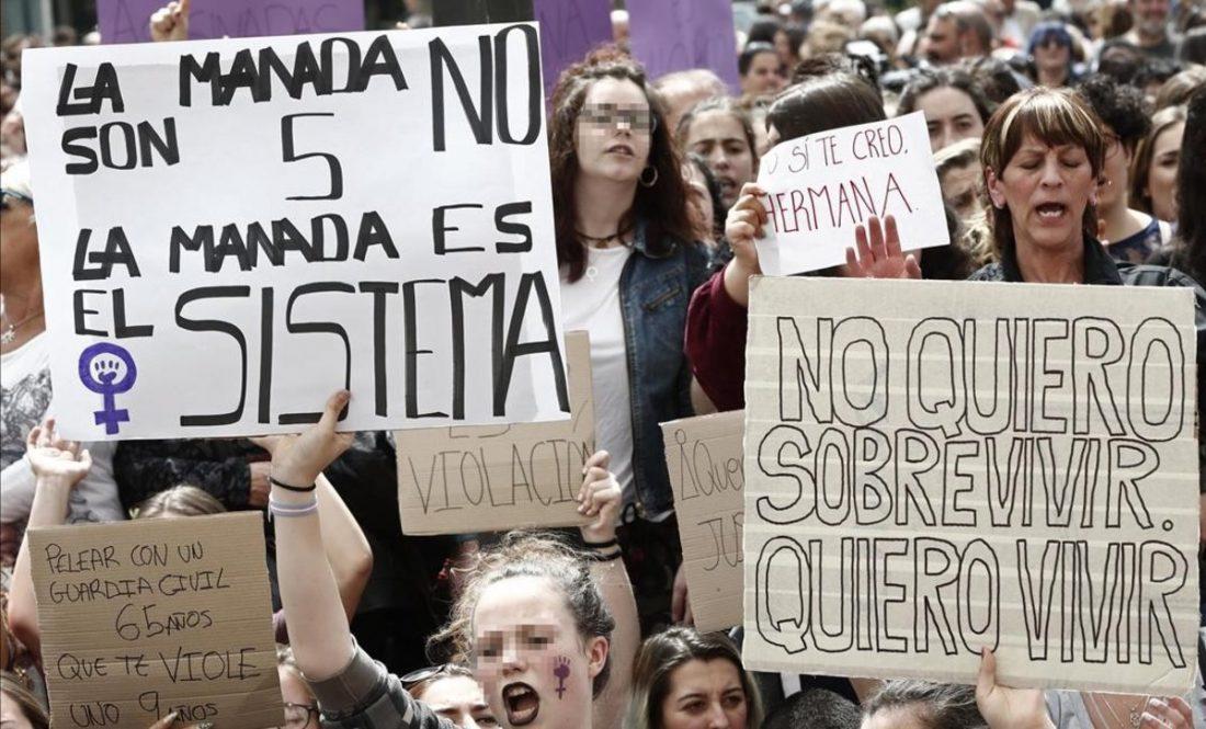 """""""La (in) justicia patriarcal viola por tercera vez a la mujer, víctima de La Manada"""""""