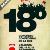 XVIII Congreso Confederal de la CGT Valencia 2018