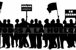 Lunes 28 de enero huelga de 24 horas en Unísono