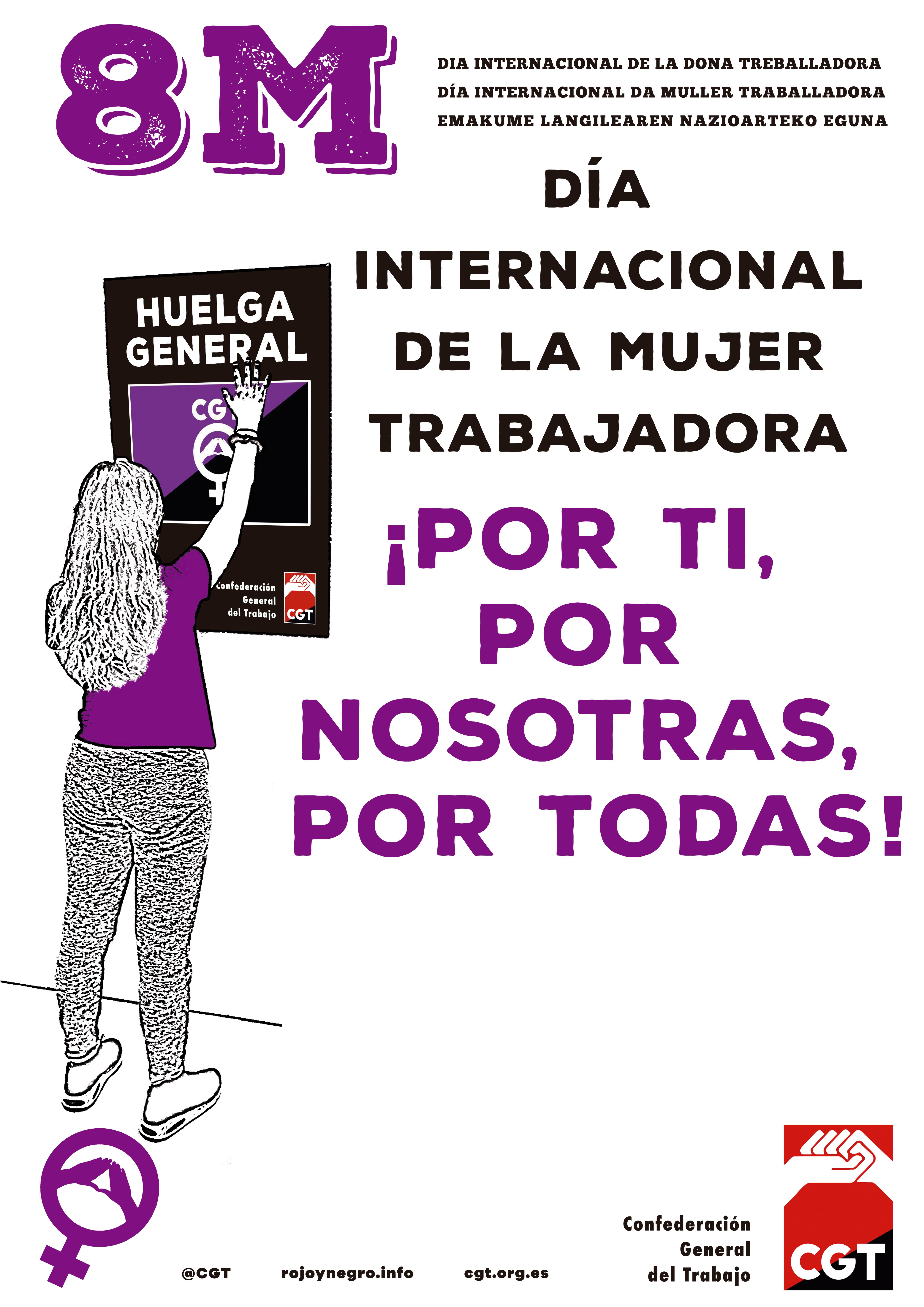 8 de Marzo de 2019 ¡Por ti, por nosotras, por todas! – HUELGA GENERAL