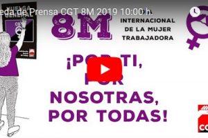 Rueda de Prensa CGT 8M 2019 10:00 h.