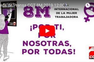 Rueda de Prensa CGT 8M 2019 12:00 h.