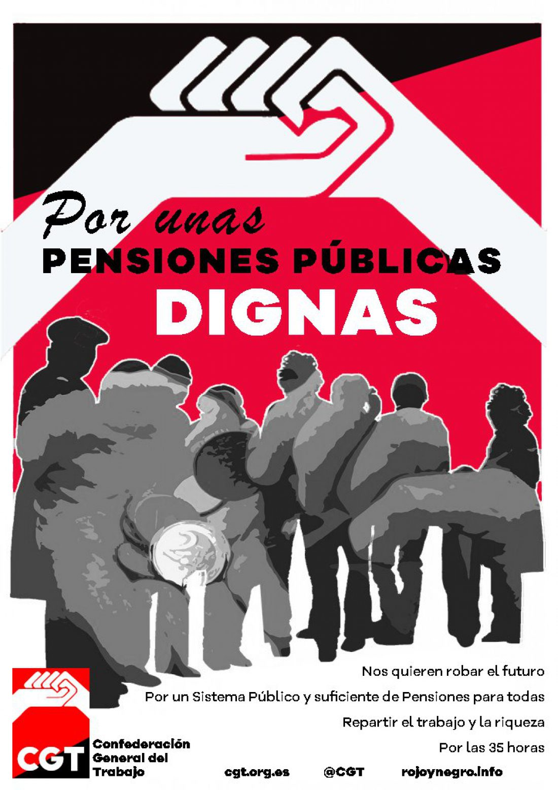 CGT apoya las movilizaciones de pensionistas del 11 de abril en Francia y llama a secundar las del Estado español