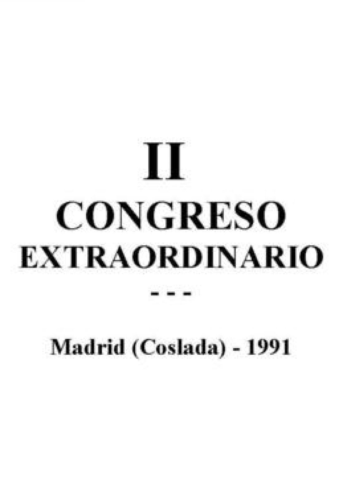II Congreso Extraordinario Madrid 1991