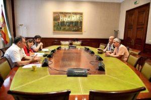 Reunión de CGT con el grupo parlamentario de Unidas Podemos