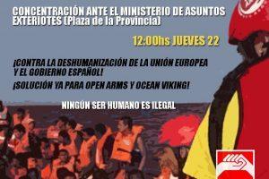 Manifiesto de solidaridad con los inmigrantes y refugiados del Open Arms y del Ocean Viking