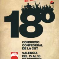 Cartel XVIII Congreso CGT (Valencia 2018)