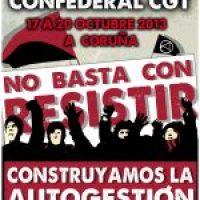Cartel XVII Congreso CGT (A Coruña 2013)