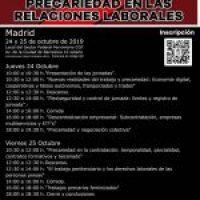Jornadas sobre Precariedad en las Relaciones Laborales