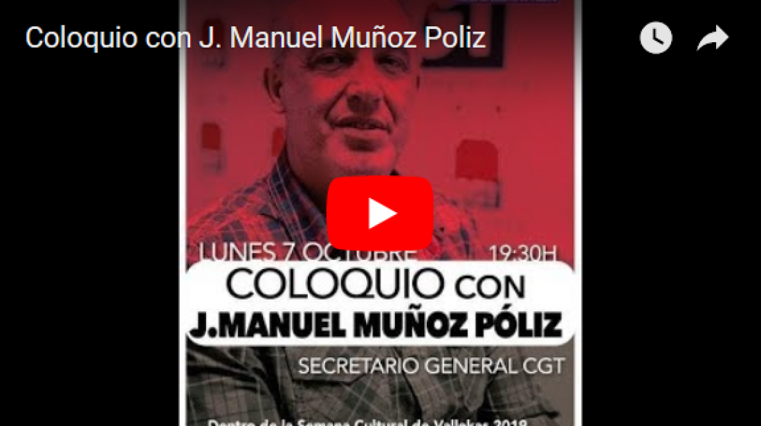 [Vídeo]: Coloquio con J. Manuel Muñoz Poliz