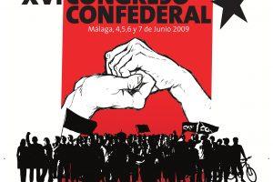 Cartel XVI Congreso CGT (Málaga 2005)