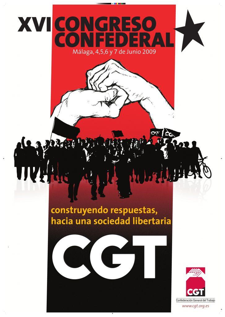 Cartel XV Congreso CGT (Málaga 2009))