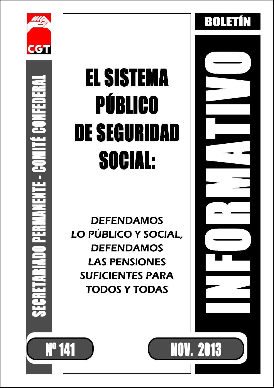 Boletín 141: Defendamos lo público y social, defendamos las pensiones suficientes para todos y todas