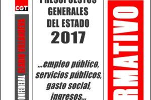 Boletín 156: Presupuestos Generales del Estado 2017