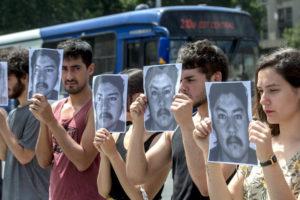 Memoria por el asesinato del joven mapuche Camilo Catrillanca en Chile a manos de los carabineros