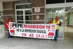 Huelga indefinida en el aparcamiento del Hospital de Puerto Real por el despido de un trabajador tras reclamar la mejora de las condiciones laborales