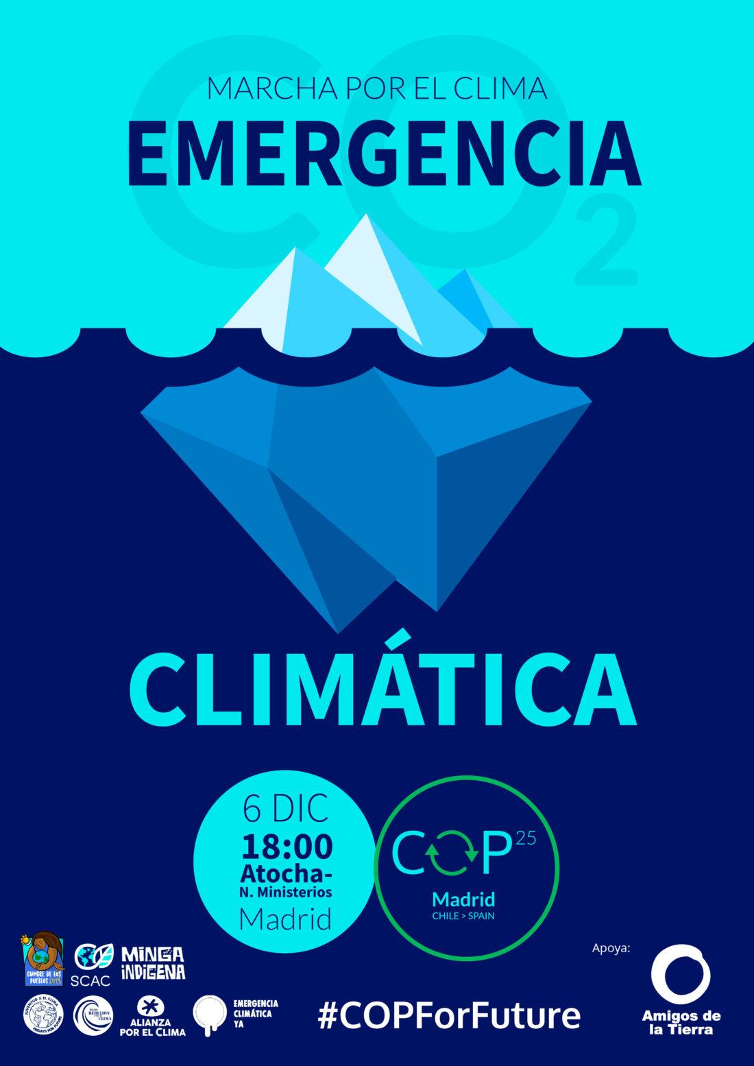 Movilización ecologista sin precedentes frente a la COP25