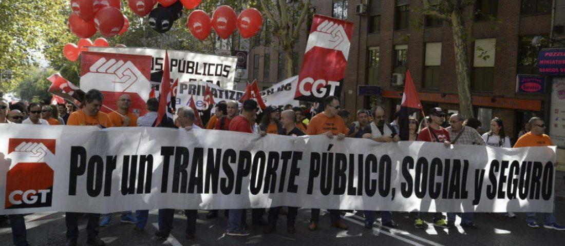 CGT Barcelona convoca una concentración en defensa del transporte público eficiente y gratuito