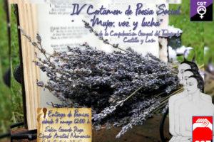 IV Certamen de Poesía: «Mujer, Voz y Lucha» de la CGT de Castilla y León      Ver     Editar