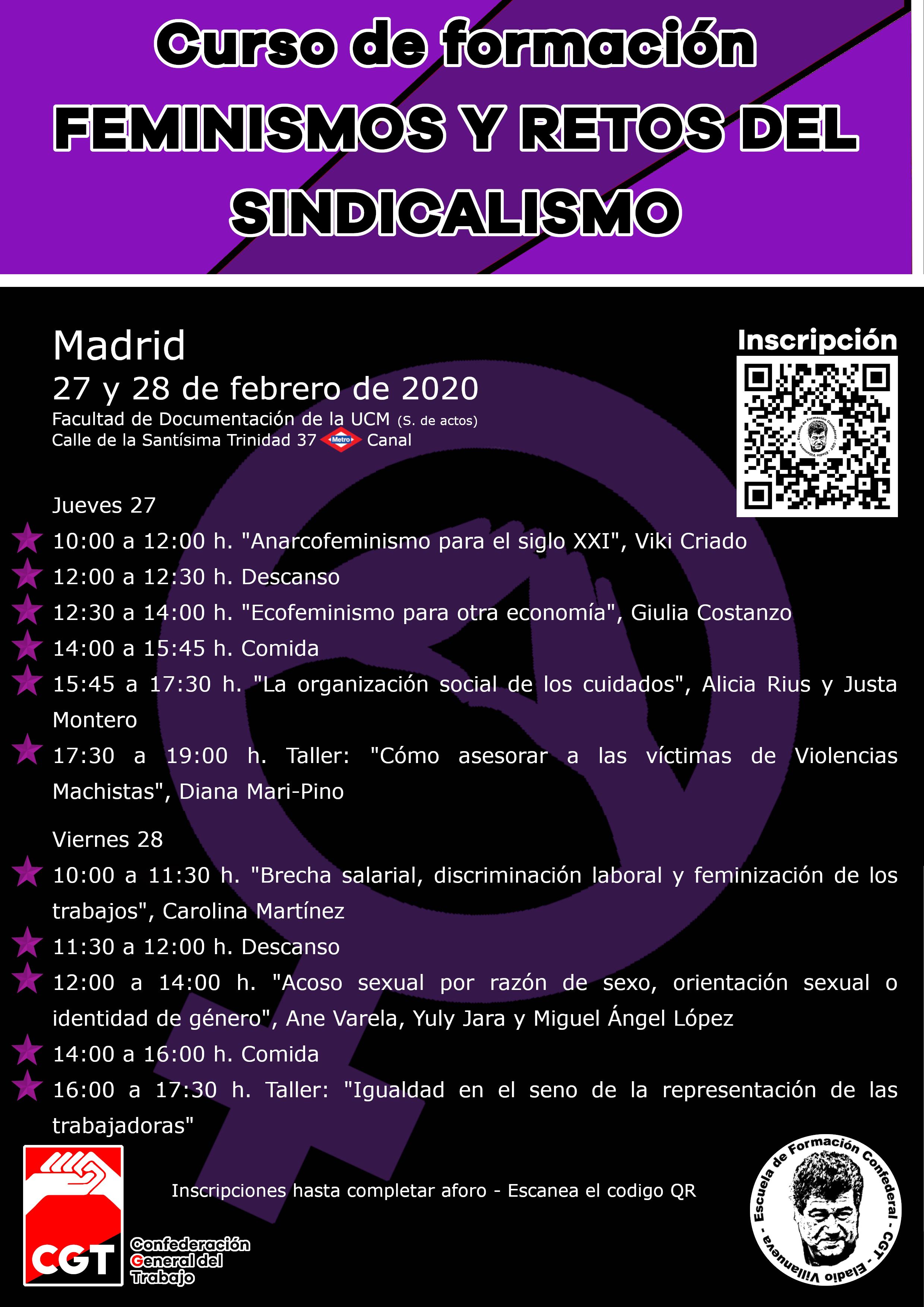 Curso de formación: Feminismo y retos del sindicalismo