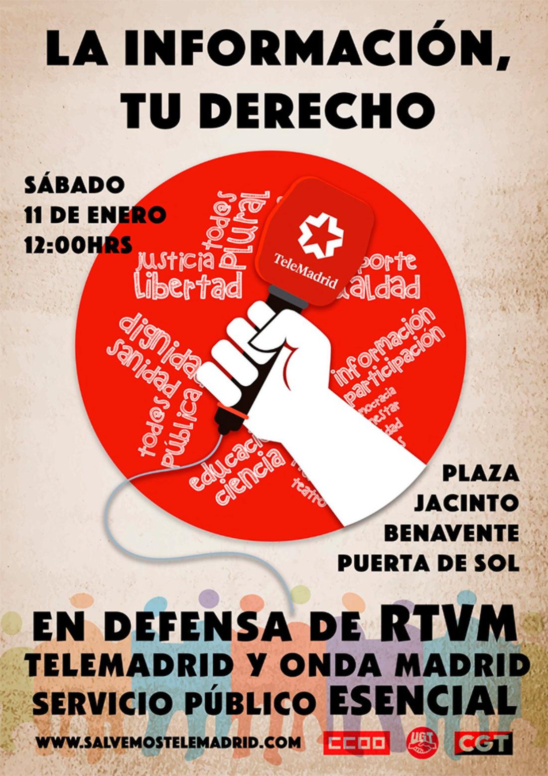 CGT denuncia que el Gobierno de Díaz Ayuso (PP) pretende boicotear la recuperación de la radiotelevisión madrileña