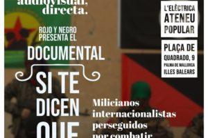Presentación del documental «Si te dicen que caí en Rojava» en Palma de Mallorca
