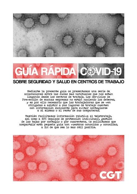 Guía rápida Covid-19 sobre seguridad y salud en los centros de trabajo