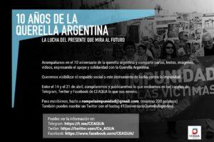 Conmemoramos el décimo aniversario de la Querella Argentina