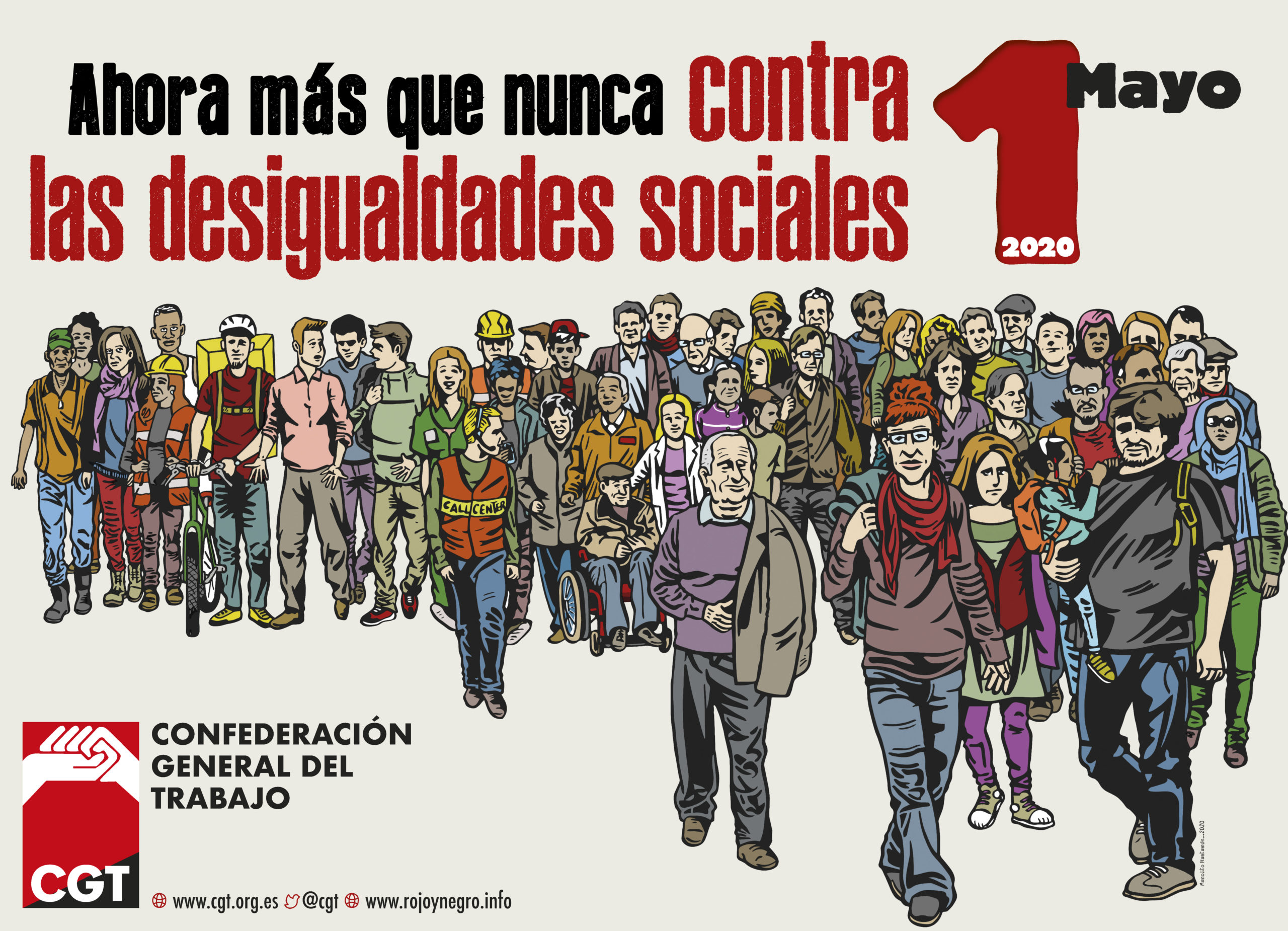 1º de Mayo 2020: Ahora más que nunca contra las desigualdades sociales