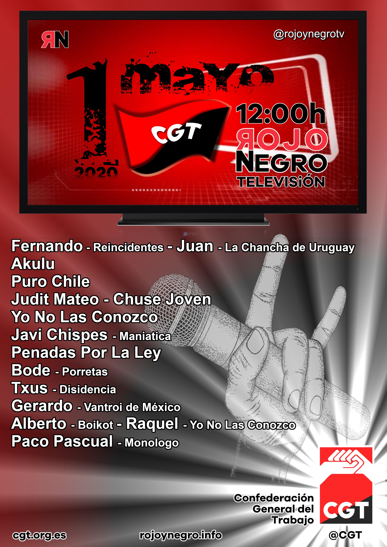 CGT celebra el 1º de Mayo en Rojo y Negro Tv
