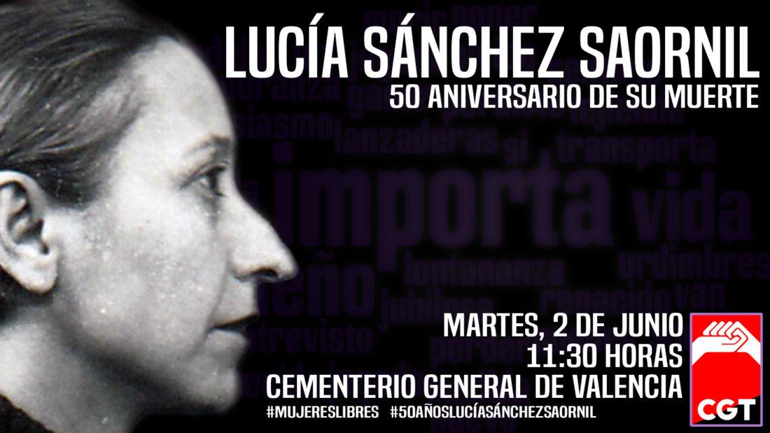 CGT homenajea a Lucía Sánchez Saornil