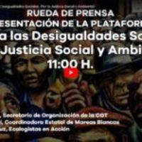 Directo: Rueda de Prensa, Contra las Desigualdades Sociales