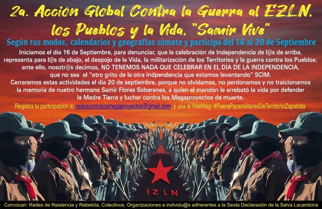 Por el fin de la guerra contra el EZLN y las comunidades zapatistas