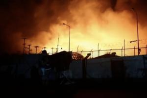 ¡¡¡Arde Moria, que ardan las políticas migratorias de la UE!!!