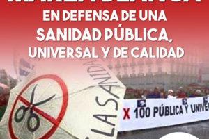 La Marea Blanca en defensa de una sanidad  pública, universal y de calidad