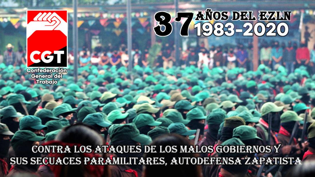 37 años de Rebeldía y Resistencia Zapatista