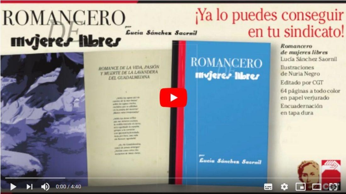 «Romancero Mujeres Libres» Lucía Sánchez Saornil