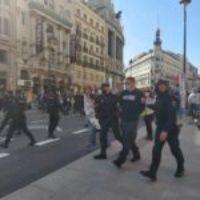 Represión contra los manifestantes que defienden la Sanidad Pública