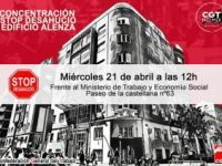 Unidas Podemos continúa adelante con el intento de desahuciar a los trabajadores y trabajadoras de la sede madrileña de CGT