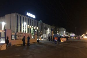 Seguimiento masivo en la primera jornada de huelga que CGT convoca en Airbus Puerto Real