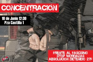 Concentración el 10 de junio a las 12:30 en los Juzgados de Plaza de Castilla en Madrid