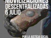 Movilizaciones Descentralizadas el 6 de julio por la derogación de las Reformas Laborales