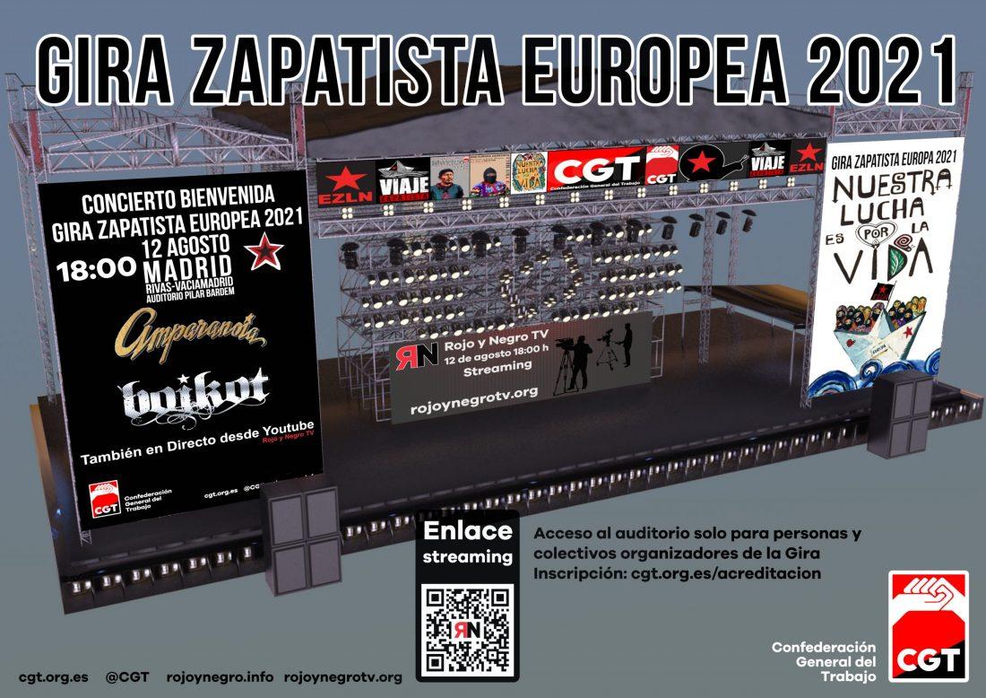 Concierto bienvenida Gira Zapatista Europea 2021