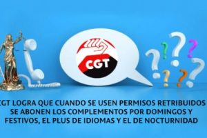 Telemarketing: CGT logra que cuando se usen permisos retribuidos se abonen los complementos por domingos y festivos, el plus de idiomas y el de nocturnidad