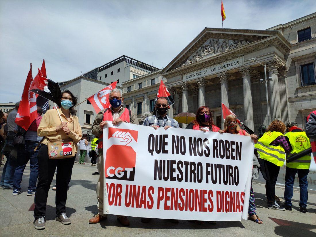 CGT considera que el acuerdo alcanzado para la reforma de las pensiones es un nuevo ataque contra el Sistema Público de Pensiones y las clases populares