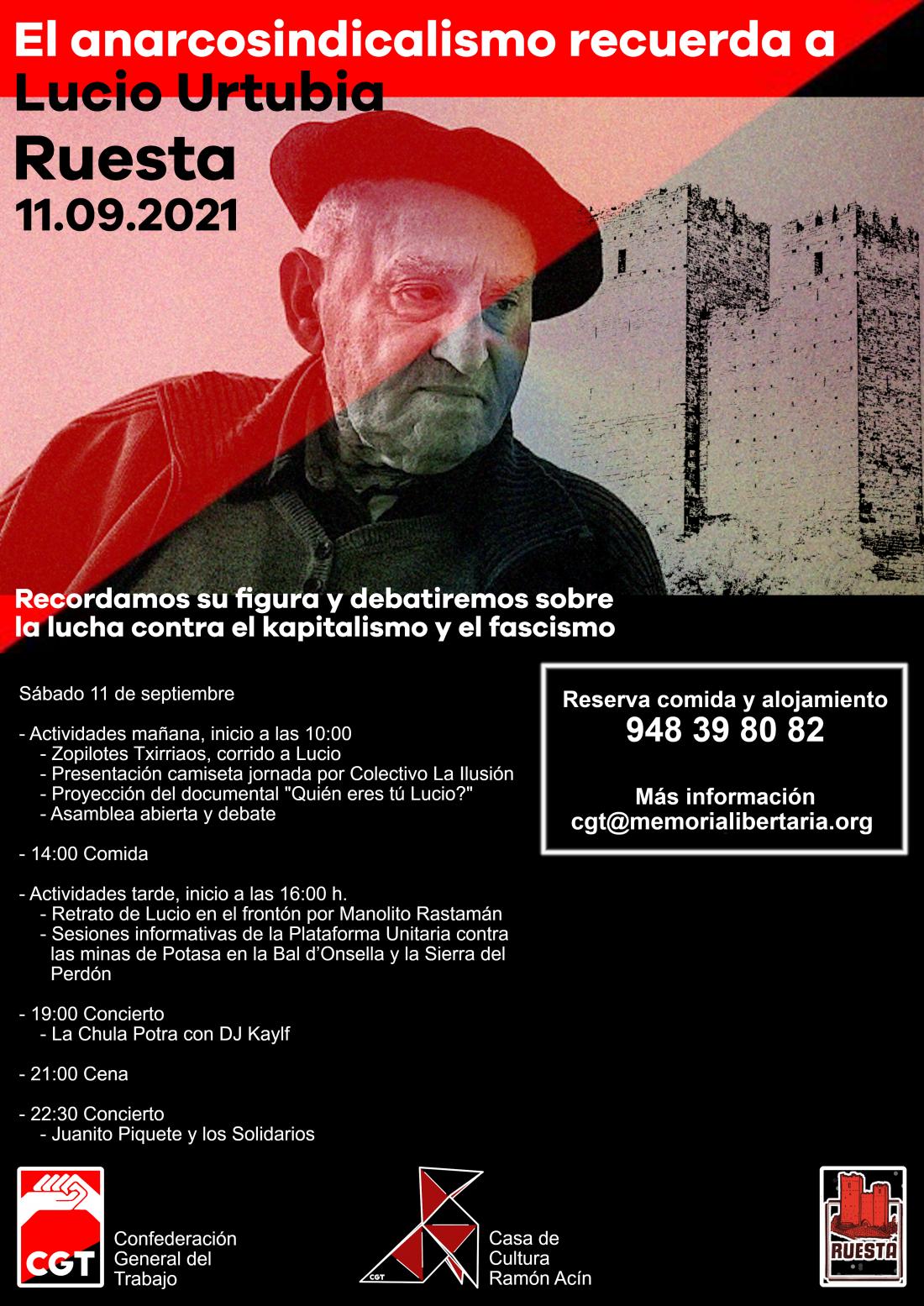 El anarcosindicalismo recuerda a Lucio Urtubia