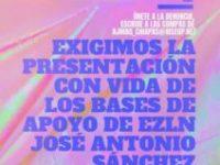 Presentación con vida de José Antonio Sánchez Juárez y Sebastián Núñez Pérez, bases de apoyo del EZLN (México).